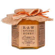 Load image into Gallery viewer, Turmeric honey, raw artisan honey 450g