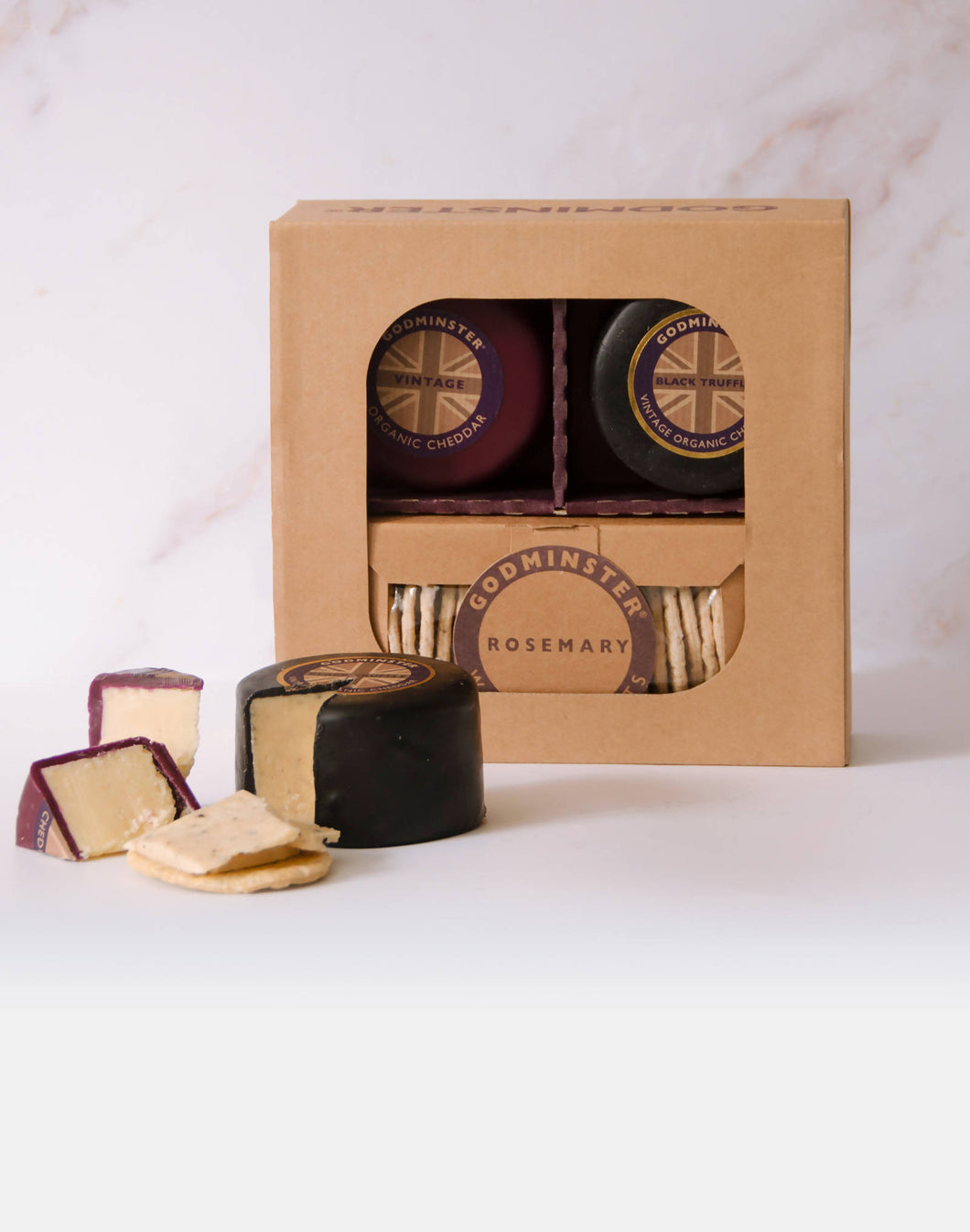 Godminster Cheddar and Black Truffle Signature Selection Gift Set