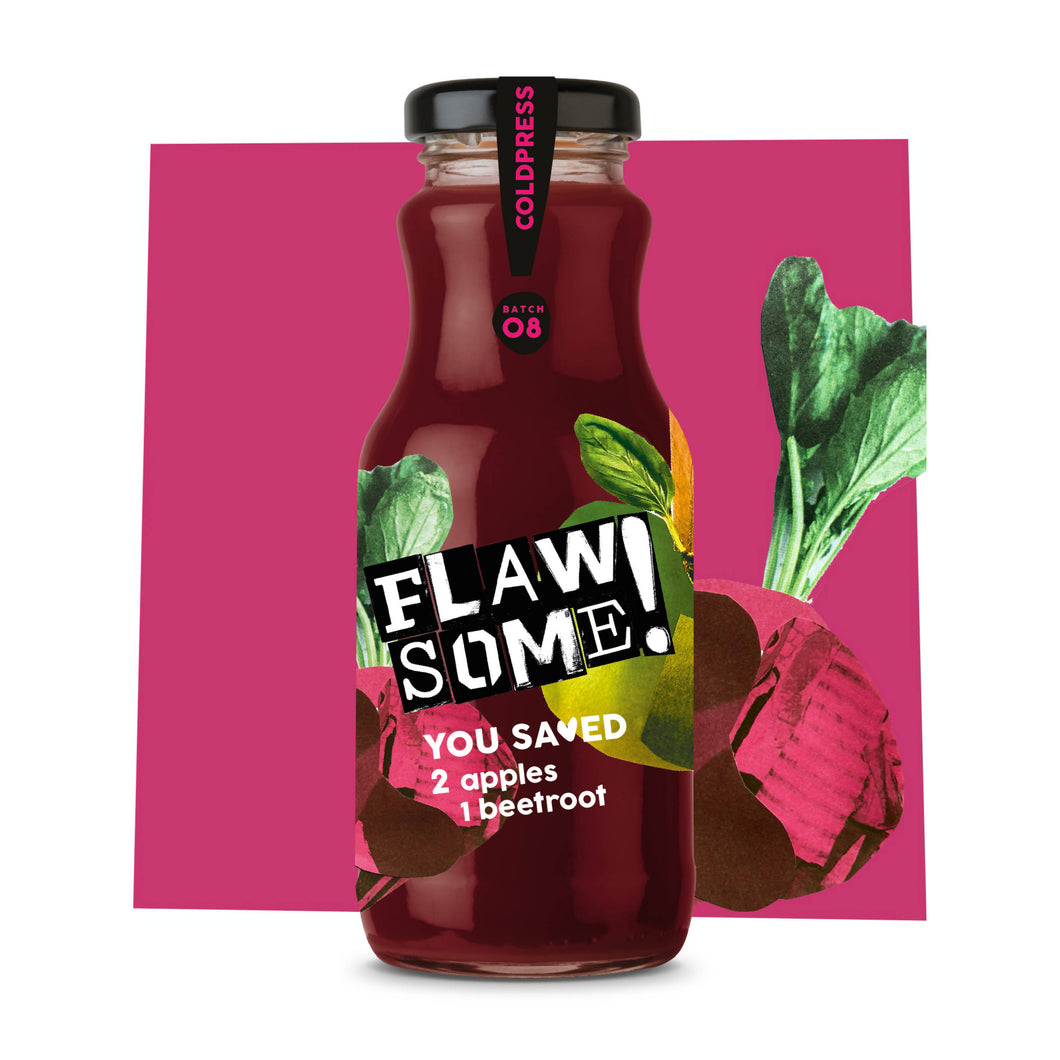 Flawsome! Apple & Beetroot - Cold Pressed Juice (12x250ml)