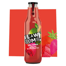 Load image into Gallery viewer, Flawsome! Apple & Strawberry - Cold Pressed Juice (6x750ml)
