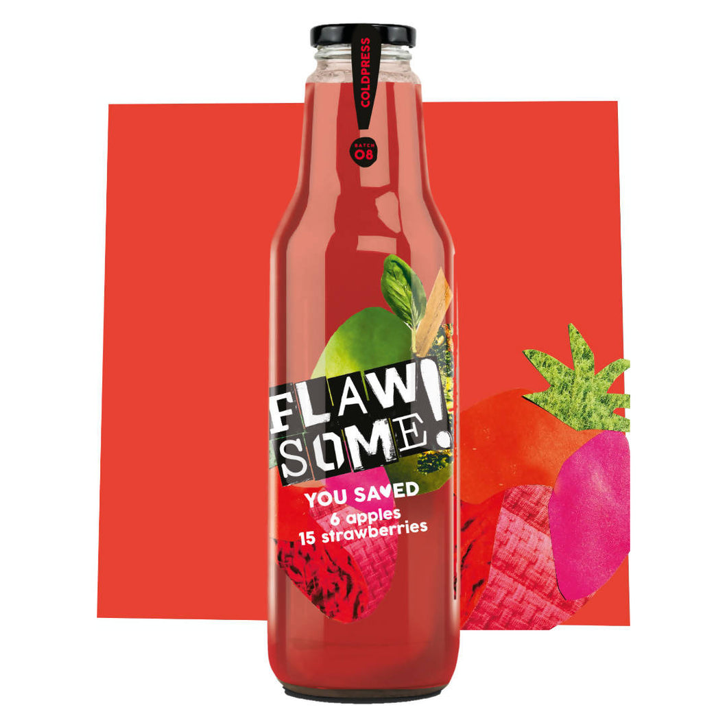 Flawsome! Apple & Strawberry - Cold Pressed Juice (6x750ml)