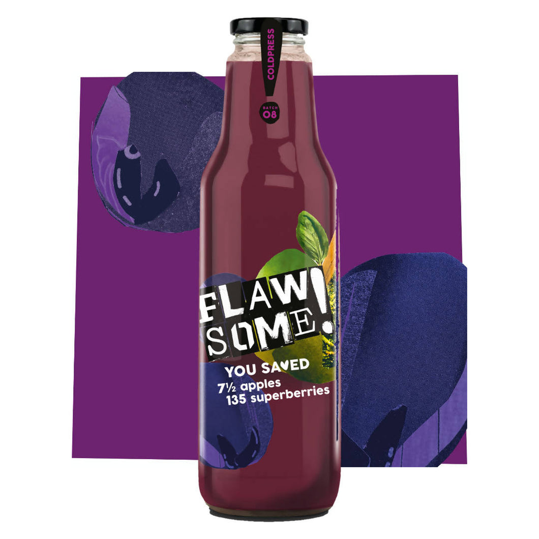 Flawsome! Apple & Superberry - Cold Pressed Juice (6x750ml)
