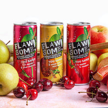 Load image into Gallery viewer, Flawsome! Apple & Rhubarb - Lightly Sparkling Juice (24x250ml)