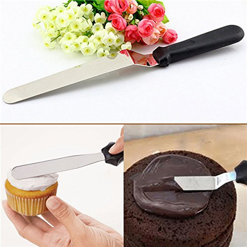 0340 Stainless Steel Angular Palette Knife for cake - 8 Inch