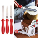 0437 3 In 1 Stainless Steel Palette Knife Cake Knife Cake Spatula Pallet Angular Tool Set Of 3