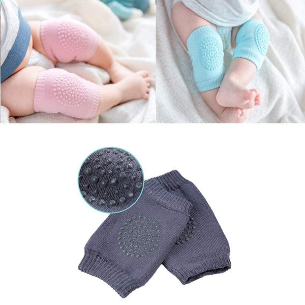 0136 Baby Knee Pads for Crawling Crawler Toddlers Anti-Slip Pad Stretchable Cotton Knee Cap Elbow Safety Protector 1 Pair (Multicolor)