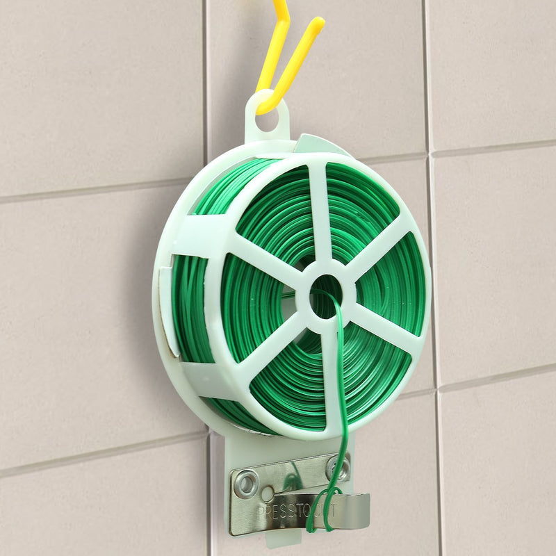 0216 Twist Tie Wire Spool with Cutter for Garden Yard Plant 50m
