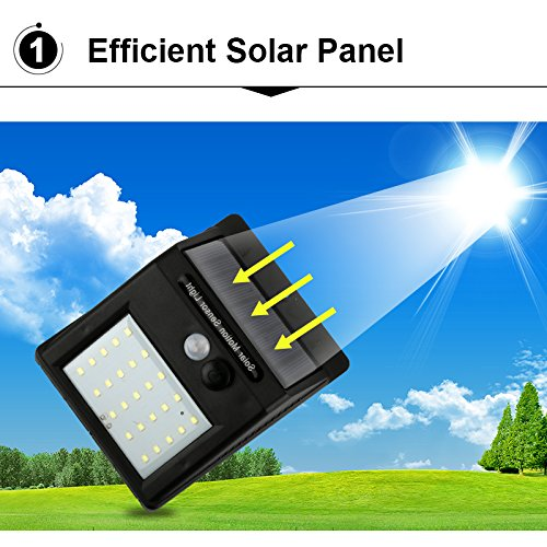 0079 Solar Power LED Wall Light