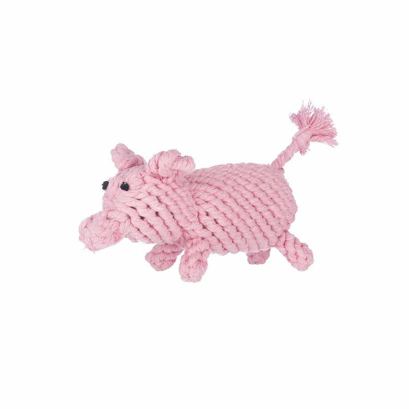 Pig Rope Dog Toy