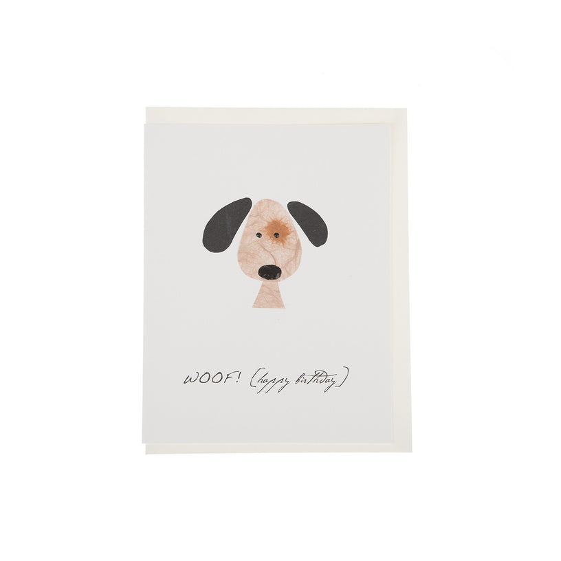 Woof Happy Birthday Card