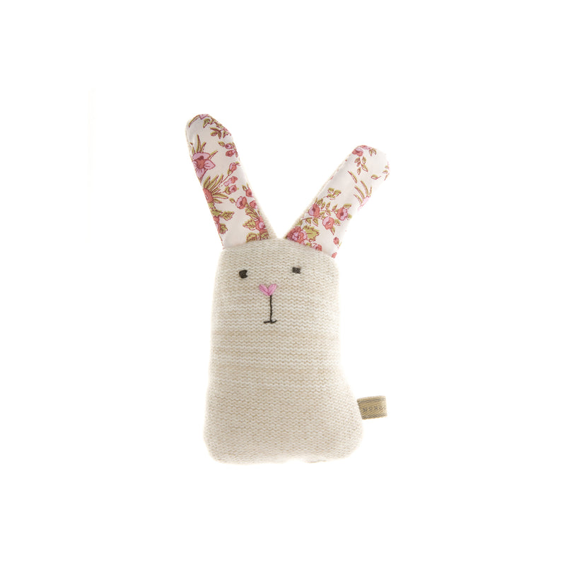 Knitted Rabbit Dog Toy