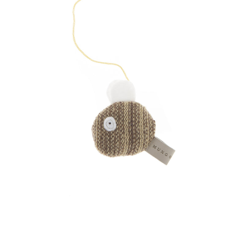 Knitted Bee Cat Toy