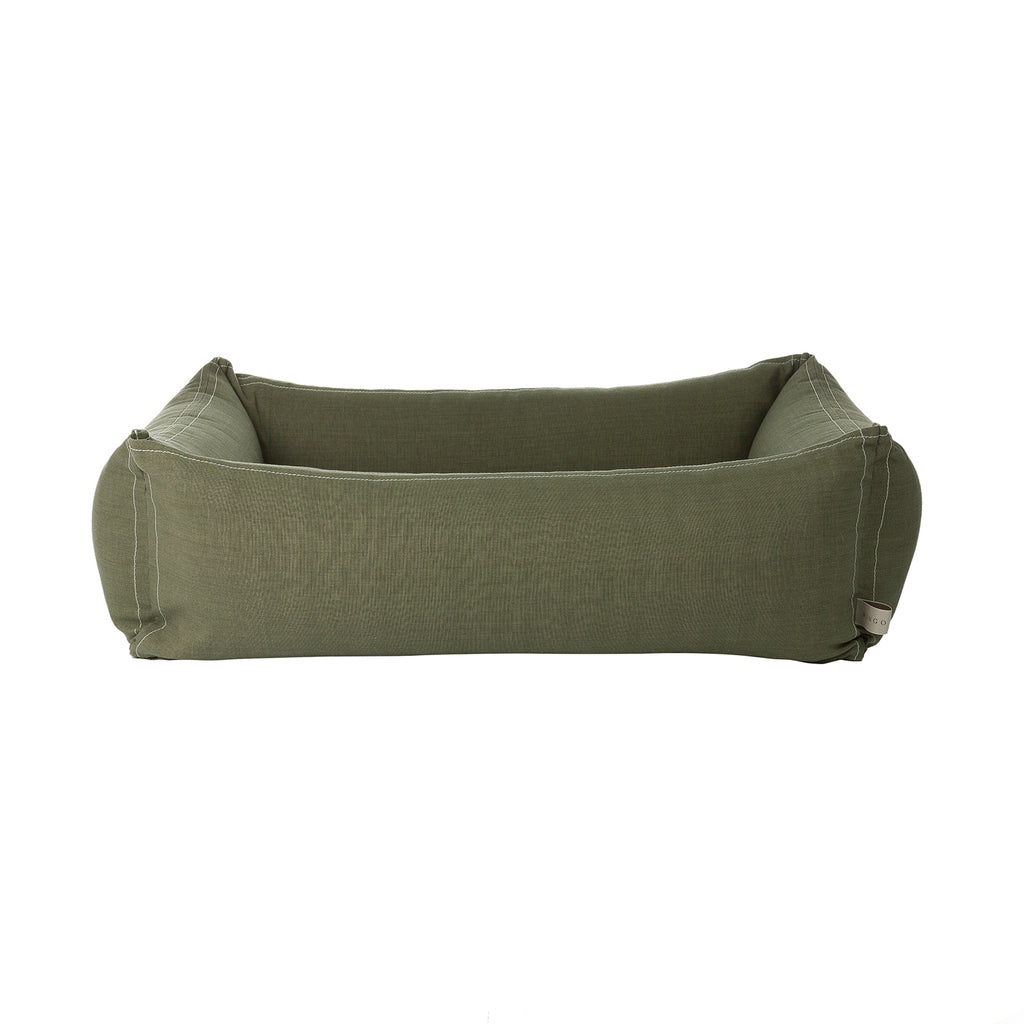Classic olive green dog bed