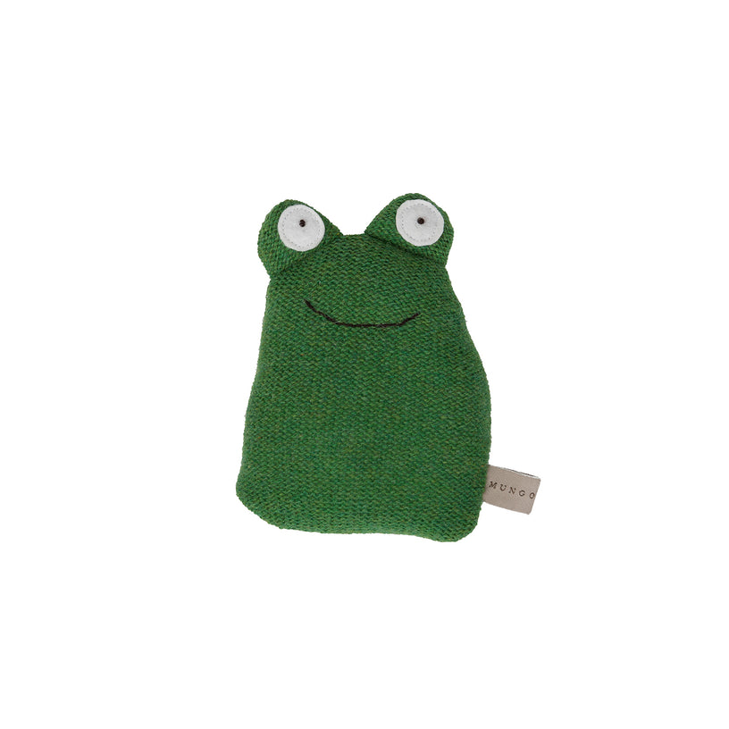 Knitted Frog Dog Toy