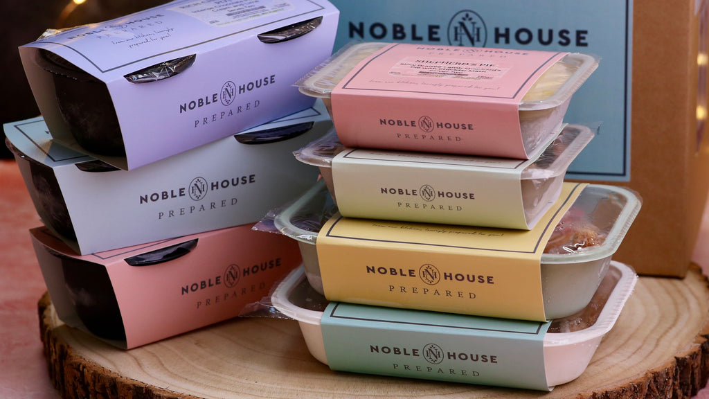 Noble House Prepared Food for Virtual Dining Corporate Events Delivered Fresh or Frozen