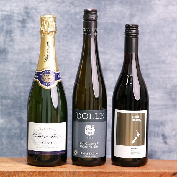 Noble House Favourites Trio - Bubbly, Red and White!