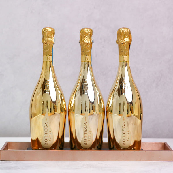 Trio of Bottega Gold Prosecco
