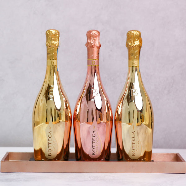 Trio of Bottega Prosecco - Gold and Rosé