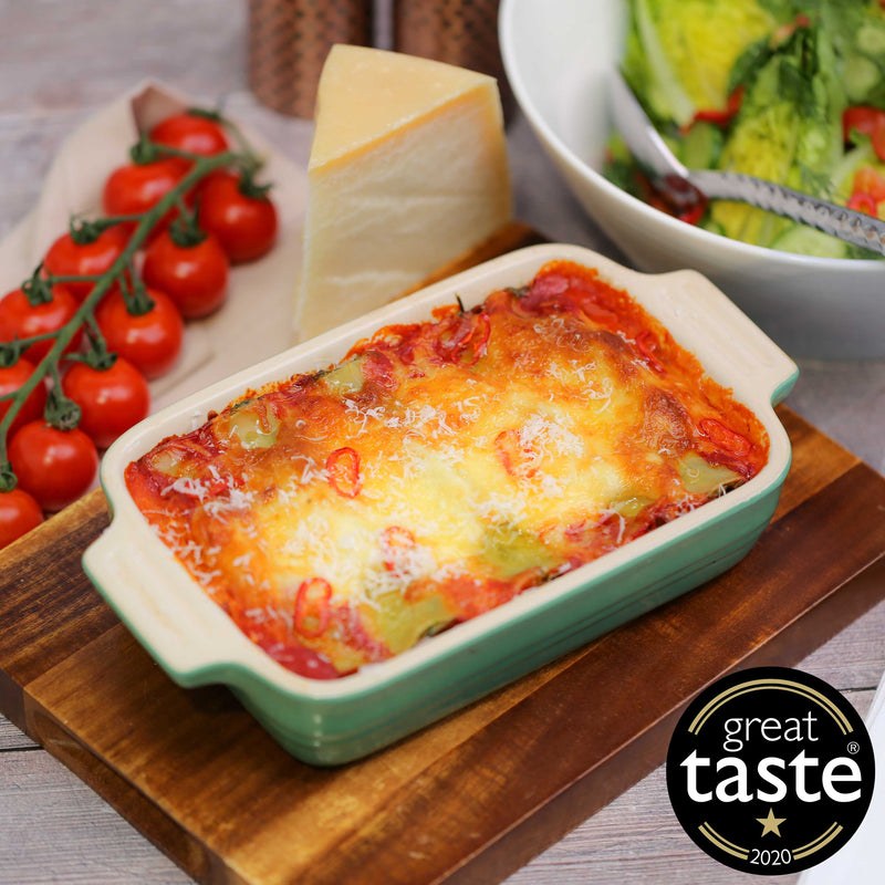 Spinach and Ricotta Cannelloni with Arrabiata Sauce