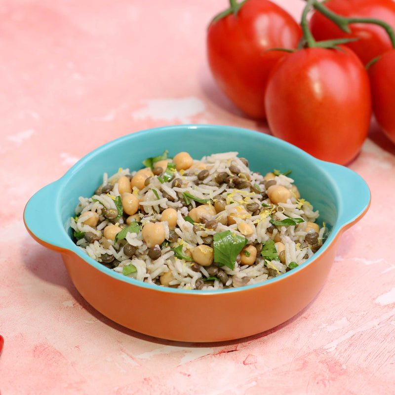 Chickpeas, Lentil and Rice