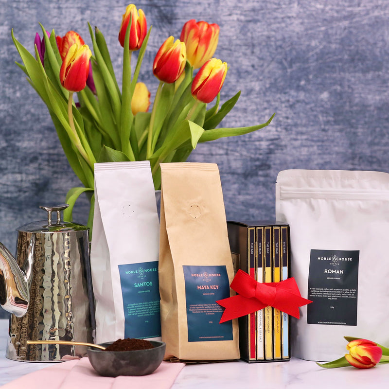 Gift Box with Noble House Coffee and the Noble Chocolate Selection