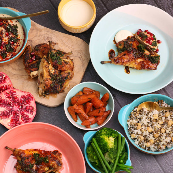 Date Night! Pomegranate and Harissa Poussin Package