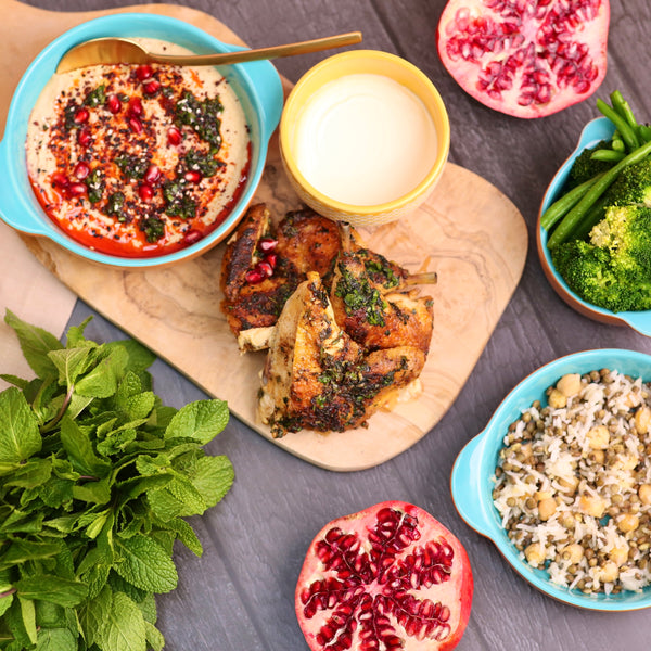 Pomegranate and Harissa Poussin Dinner Package