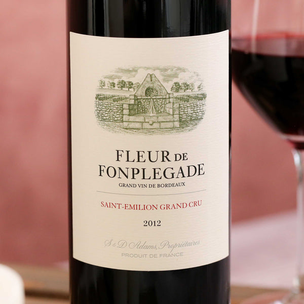 Fleur de Fonpleglade, 2nd wine of Château Fonpleglade, St Emilion, Bordeaux, France 2012