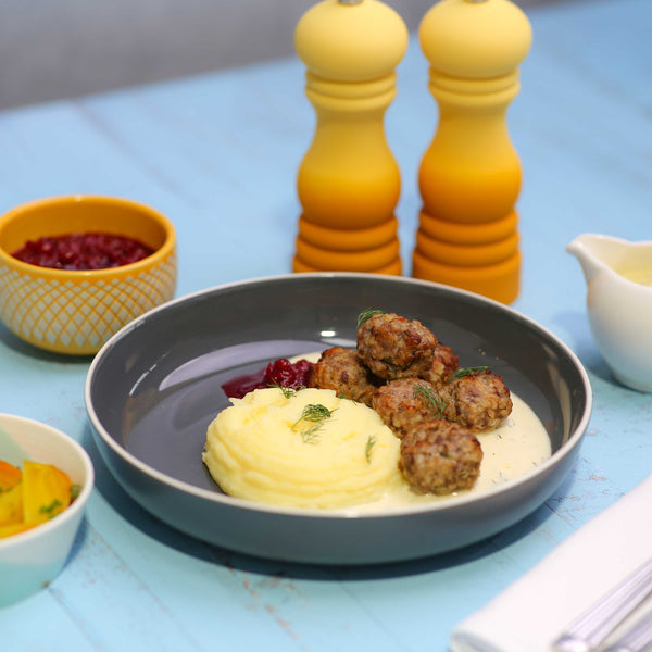 Swedish Meatballs and Mash with Lingonberry Jam