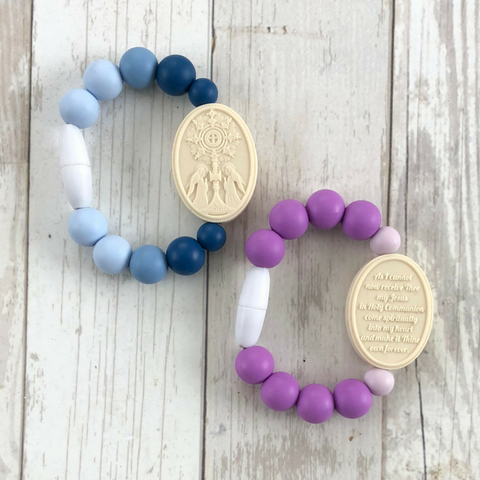 Blessed Sacrament Medal | Baby/Little Kid / Blue Ombre