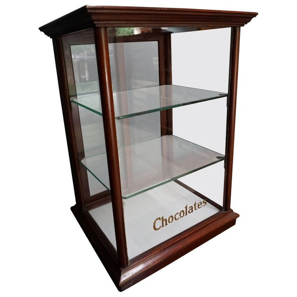 Mahogany Cadbury's Counter Top Chocolate Shop Display Cabinet, circa 1900