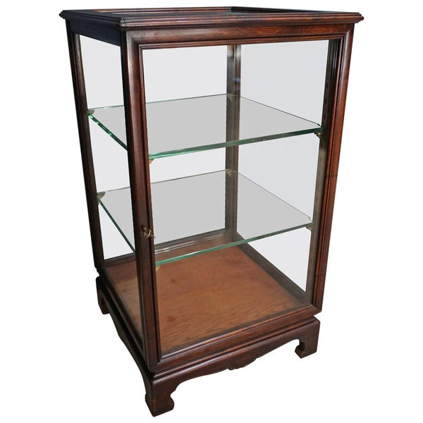 English Mahogany Vitrine / Display Cabinet, 1920s