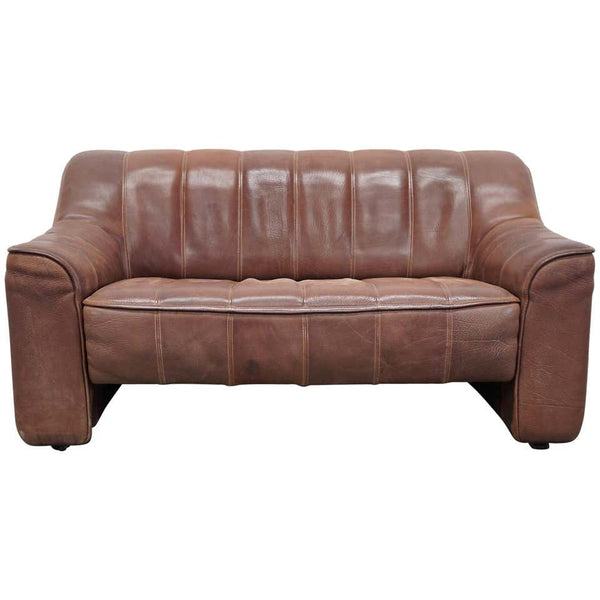 De Sede DS44 Leather Two-Seat Sofa