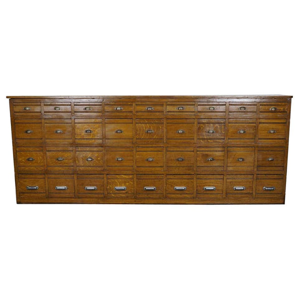 French Pine Apothecary Cabinet in Faux Oak Paint