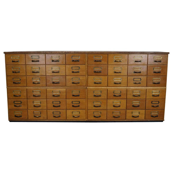 German Oak Apothecary Cabinet / Filing Cabinet, circa 1950s