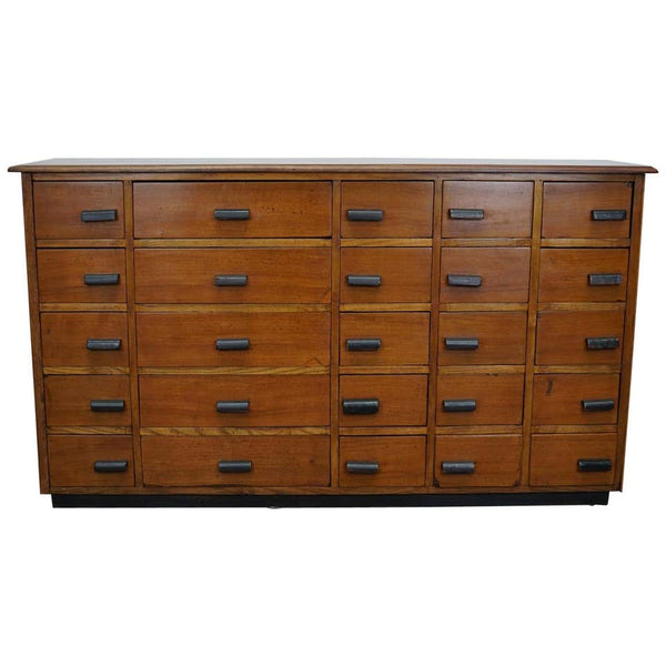 German Pine or Oak Apothecary Cabinet, 1940s