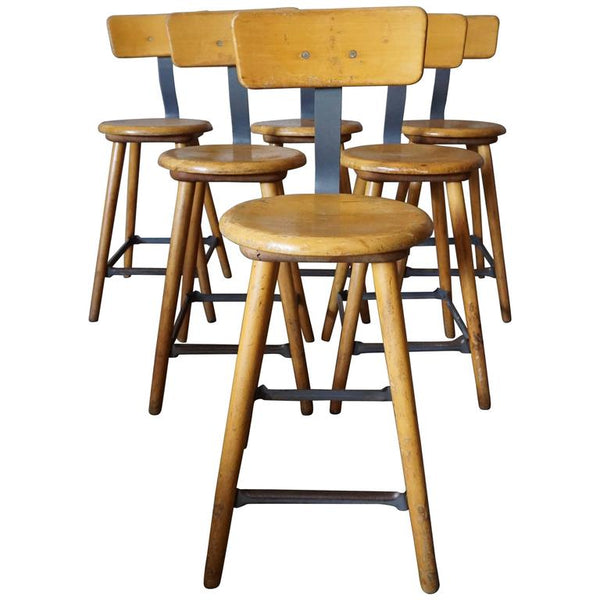 German Industrial Workshop Chair / Bar Stool