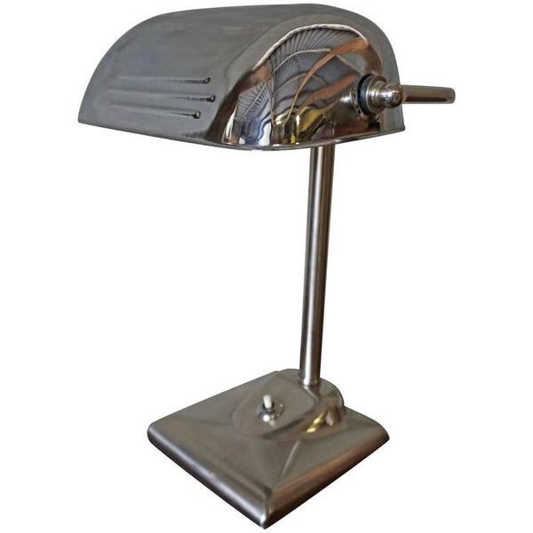 Chrome Art Deco Table Lamp
