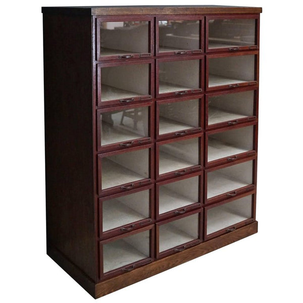 Oak Haberdashery Shop Cabinet or Retail Unit, 1930s
