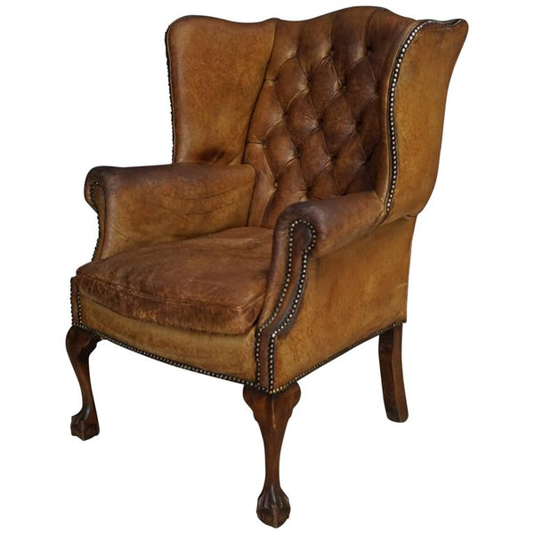 Antique Cognac Leather Club Chair