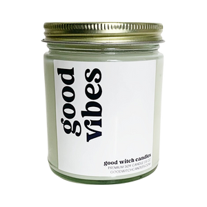 GOOD VIBES Luxe Candle | Rose, Amber, & Patchouli | Bare Collection 8+ oz.
