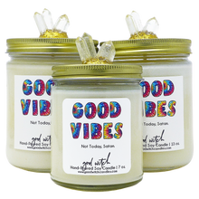 Load image into Gallery viewer, GOOD VIBES Luxe Candle | Relax & Unwind | Rose, Amber, & Patchouli