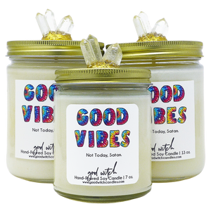 GOOD VIBES Luxe Candle | Relax & Unwind | Rose, Amber, & Patchouli