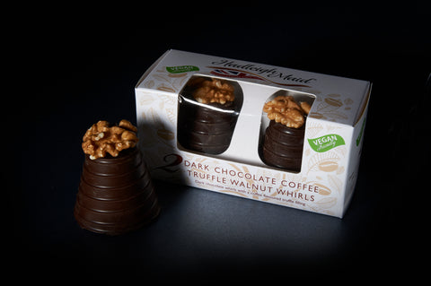 NEW VEGAN FRIENDLY Dark Chocolate and Coffee Truffle Walnut Whirls - Twin Pack (100g)
