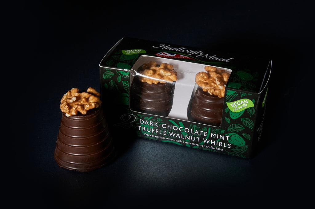 NEW VEGAN FRIENDLY Dark Chocolate and Mint Truffle Walnut Whirls - Twin Pack (100g)
