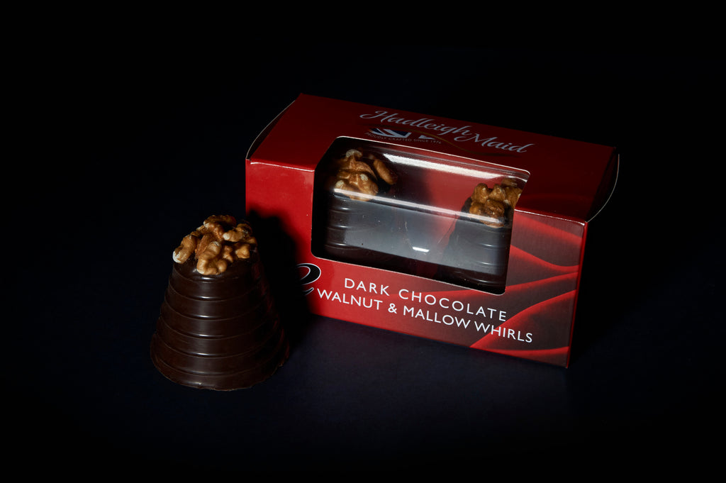 Walnut and Mallow Whirls - Twin Pack (75g) Dark Chocolate