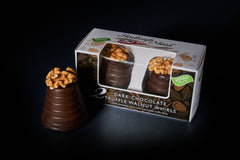 NEW VEGAN FRIENDLY Dark Chocolate Truffle Walnut Whirls - Twin Pack (100g)