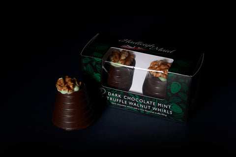 Dark Chocolate and MINT Truffle Walnut Whirls - Twin Pack (92g)