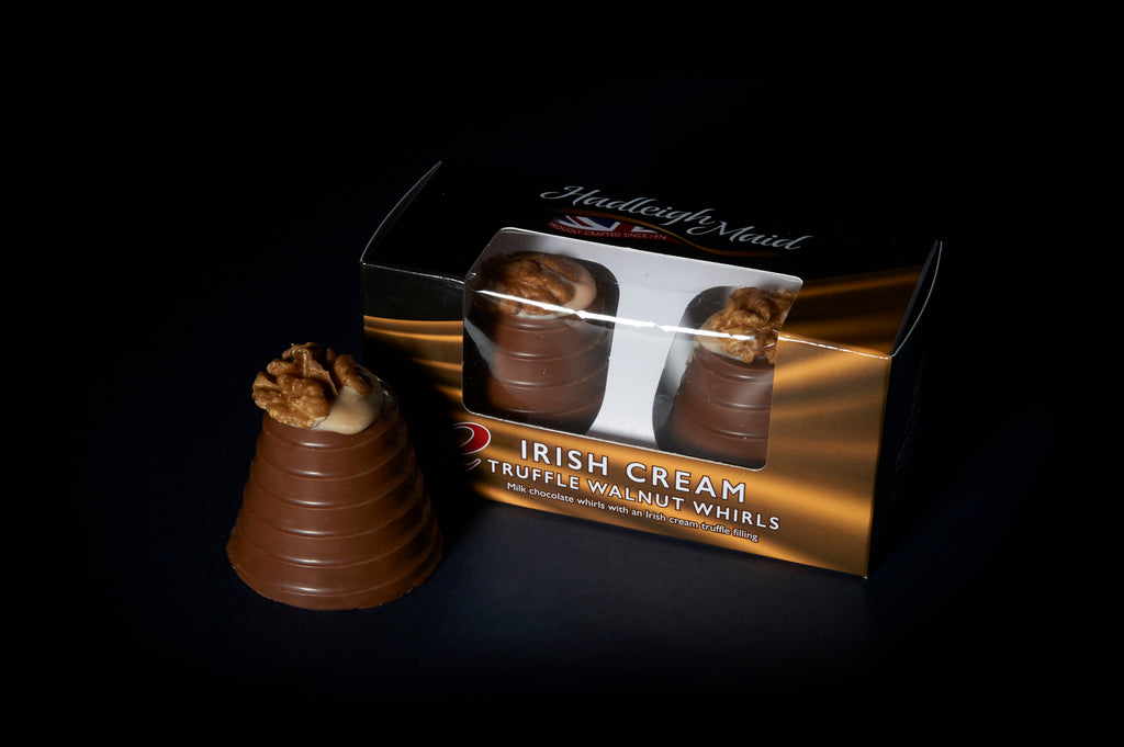 Milk Chocolate IRISH CREAM Truffle Walnut Whirls - Twin Pack (92g)