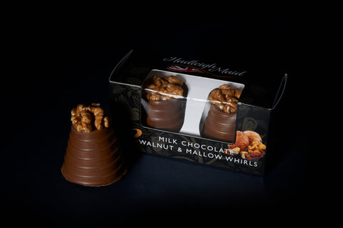 Walnut and Mallow Whirls - Twin Pack (75g) Milk Chocolate